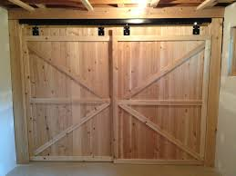 Sliding Bypass Barn Door Hardware by Interior Cedar Wooden Closet Door With Cross Accent As Well As