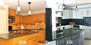 painting oak kitchen cabinets white before and after repainting kitchen cabinets white lanabates com