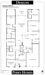 Perry Home Floor Plans | 3481w 1 story perry home floor plan dream house pinterest