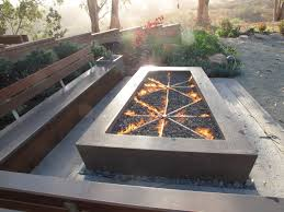 Concrete Fire Pit by Concrete Gas Fire Pits Craftsman Patio San Luis Obispo By