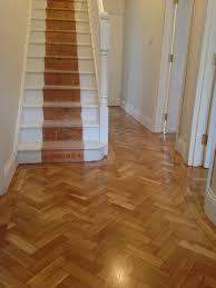 bona traffic silk matt on herringbone oak floor bath floor