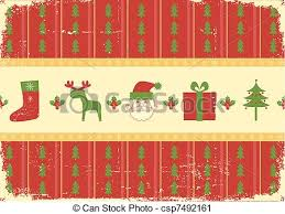 vector clip art of vintage christmas background card for holiday