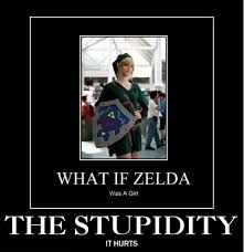 Seriously Girl Meme - what if zelda was a girl video game gaming and stuffing
