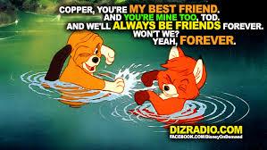 Friends Forever Meme - fox and the hound friendship dizradio dizradio com a disney