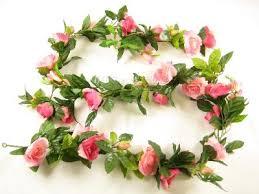 floral garland artificial silk flower w buds freesia diamante floral