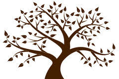 brown tree decorative brown tree silhouette stock vector illustration of