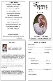 Elegant Funeral Programs Burial Ceremony Program Memorial Service Program Sample Funeral