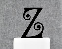 z cake topper personalized monogram initial wedding cake toppers letter m