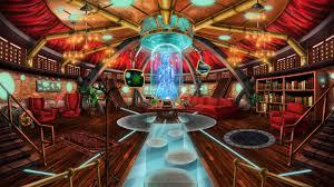 steampunk house interior imaginary interiors