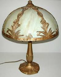victorian stained glass table lamp offered at one of the canton