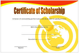 templates for scholarship awards certificate of scholarship templates the best template collection