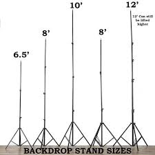 backdrop stand 8 x10 adjustable heavy duty pipe and drape kit photography
