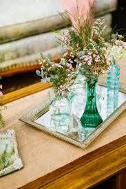 Vintage Vases Wedding Lindsay U0026 Andrew U0027s Wedding Gold Vases Mirror Vanity And Vanity Tray