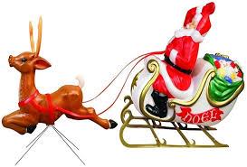 general foam santa sleigh and reindeer lights creations