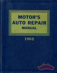 motors auto repair manual shop service book 1959 1966
