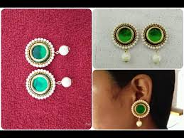 home made earrings simple and easy home made earrings diy how to make jumkhas