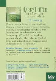 harry potter et la chambre des secrets livre audio harry potter et le prince de sang mele edition j k