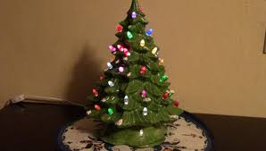 ceramic tree with color changing lights 4 steps with