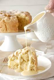 irish apple cake with custard sauce the kitchen mccabe