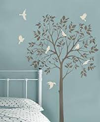 amazon com large tree and birds stencils reusable stencils for