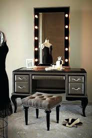 Tabletop Vanity Mirror With Lights Table Glamorous Makeup Vanity Black Table With Mirrorblack Mirror