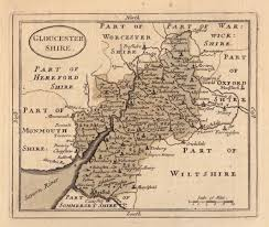 Maps Of Pa Gloucestershire Antique Maps Old Maps Of Gloucestershire Vintage