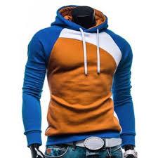 blue izzumi raglan sleeve paneled brown pullover hoodie xl 16 01