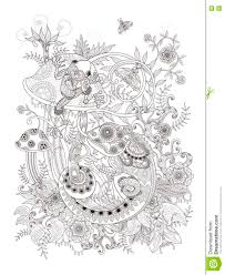 gorgeous coloring page stock illustration image 77582678