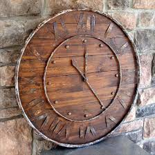 14 diy clocks made from reclaimed wood diy and crafts