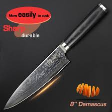 online get cheap meat knife aliexpress com alibaba group 8 inch chef knife damascus kitchen knives quality japanese vg10 stainless steel fish meat knife micarta