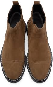 alexander wang tan suede lucas chelsea boots in brown for men lyst
