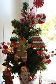 kitchen tree ideas gingerbread themed tree lights decoration