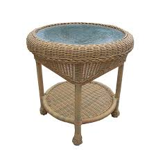 amazon com oakland living resin wicker end table 21 inches