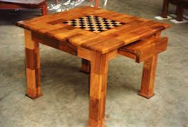 Chess Table by Chess Tables Mahogany Chess Table Special Order Chess Table