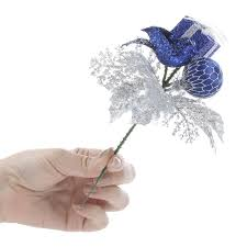 royal blue gift and ornament floral picks picks and