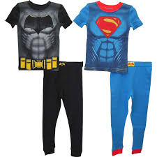 dc comics toddler boys batman vs superman 4 pc pajama set