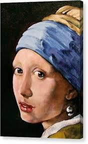 vermeer pearl earrings girl with a pearl earring canvas prints america