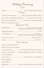 christian wedding program sle christian wedding ceremony wedding programs