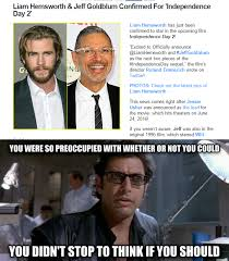 Independence Day Movie Meme - mrw liam hemsworth jeff goldblum confirmed for independence day 2