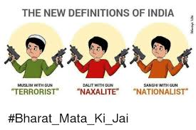 Meme Definitions - the new definitions of india muslim with gun dalit with gun sanghi