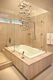 Bathroom Modern Light Fixtures - pretty bathroom tub ideas home renovations with stone wall bubble