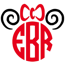 minnie mouse monogram because everyone disney and that magical mouse this decal
