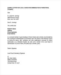 letter of recommendation sle recommendation letter sle church member 28 images pastor
