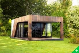 studio bureau de jardin extension maison bois pool house