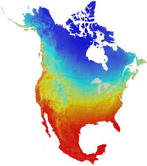 Temperature Map United States by Current And Projected Climate Data For North America Cmip5