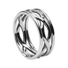 mens infinity wedding band celtic infinity knot wedding rings made in ireland