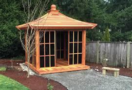 japanese tea house gazebo wood gazebo kits custom redwood