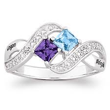 s birthstone ring would to this sterling silver s princess cut