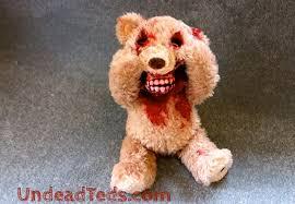 good god u0027peek boo u0027 edition undead teddy bear geekologie