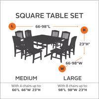 Square Table L Classic Accessories Ravenna Square Patio Table